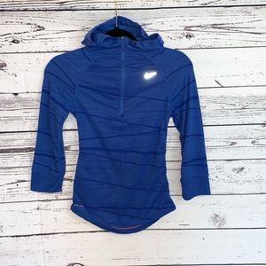 Nike Dri Fit Hooded Running Half ZIP Shirt